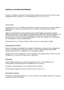 Verksamhetsberättelse 2013-2015